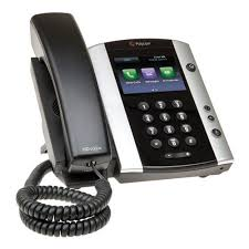 Polycom 2200-48500-019_AC – VVX 501 12-line Business Media Phone Skype for Business Edition – with Power Supply