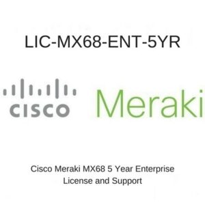 Meraki LIC-MX68-ENT-5YR – Meraki MX68 Enterprise License and Support 5YR