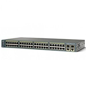 Cisco WS-C2960-48PST-L – Catalyst2960 48 10100PoE2 1000BT+2 SFPLANBase
