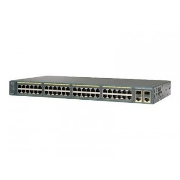 Cisco WS-C2960-48PST-S – Cat2960 48 10/100 PoE+2 1000BT+2 SFP LAN Lite