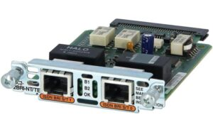 Cisco VIC2-2BRI-NT/TE= – 2pt Voice Interface Card – BRI (NT and TE)
