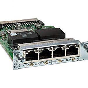 Cisco VWIC3-4MFT-T1/E1 – 4-Port 3rd Gen MFT Voice/WAN IntCard – T1/E1